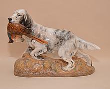 Royal Doulton setter with pheasant, 9