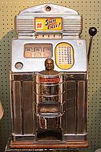 Vintage 25cent SLOT machine, Jennings Sun Chief