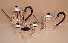 5 Piece Lunt Silver Plated Tea & Coffee Service.  Teapot Ht. 9 1/4