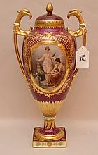 Large Royal Vienna covered urn, 18 1/2