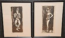Arbit Blatas (LITHUANIAN, 1908-1999) Pair of Prints, Signed original litho