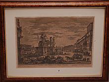 Pair of Antique PIRANESI large Engravings, Settinio Severo- Impression size 18-1/2