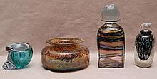 4 pcs. Art glass, bowl (2 3/4
