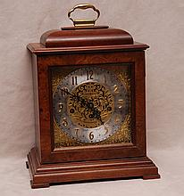 Square wood shelf clock, Howard Miller, 14 3/4