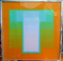 Karl Gerstner (Swiss b1930) Color SilkscreenTitled