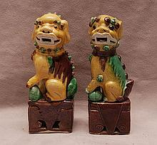 Pair of small foo dogs (6