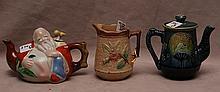3 porcelain pieces, (1) pitcher (4 3/4