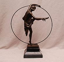 Bronze deco dancer, after Godard