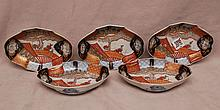 5 Imari shallow bowls, 6 3/4