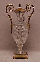 Brass & glass footed centerpiece, 17