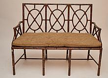 Bamboo style settee
