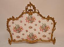 Gilded rococo frame turned into an upholstered piece
