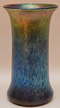Blue Art Glass Vase Signed  L. C. Tiffany Favrile Ht. 7 1/2