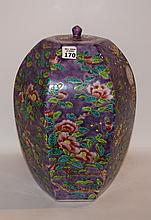 Chinese Porcelain Jar & Cover Ht. 14 1/2