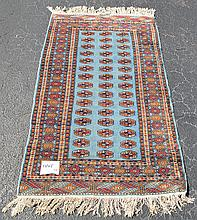 Carpet, 7 row border, blue, red and gold, 5'2