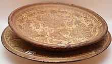 2 Continental pottery plates