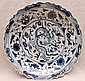 Chinese blue & white Charger, diameter 17