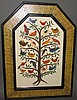 Marie Gottshall framed folk art watercolor