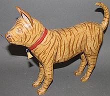 Standing cat carving