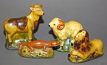 4 Mary Shooner redware figures