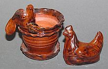 2 pieces of Ned Foltz redware