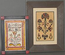 2 Joan Raab folk art watercolors