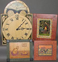 4 pieces of folk art