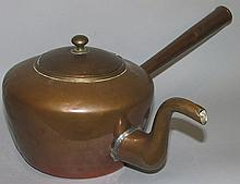 American gooseneck copper tea kettle