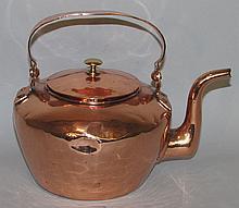 Gooseneck copper tea kettle