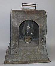 Tin oil lamp