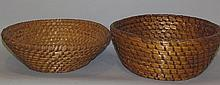 2 rye straw bread baskets
