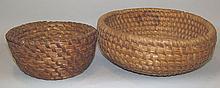 2 PA rye straw baskets