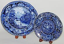 2 Historic Blue dishes