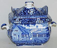Historic Blue covered sugar