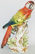Porcelain parrot figurine
