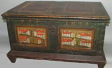 German painted chest