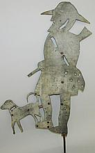 Hunter & dog weathervane
