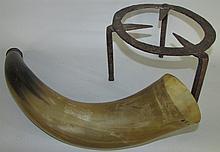 Hearth trivet & powder horn
