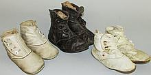 3 pair of children's button shoes