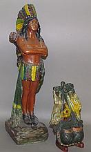 Chalk Indian & iron match safe