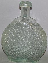 """Colorless glass """"poison"""" flask"""