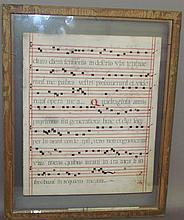 Manuscript music page