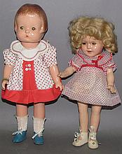 2 composition character dolls