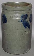 1 gallon cobalt decorated stoneware jar
