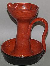 Seagraves reproduction redware lamp