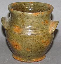 Stahl miniature covered redware jar