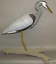 John A. McCann heron carving