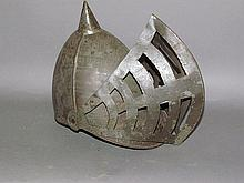 Tin theatrical helmet