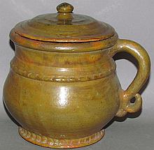 Stahl Pottery covered pot