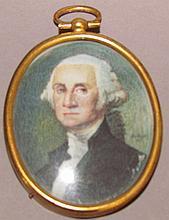 Miniature Washington portrait on ivory
